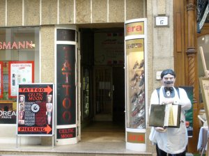 42. tattoo shop on Vaci street
