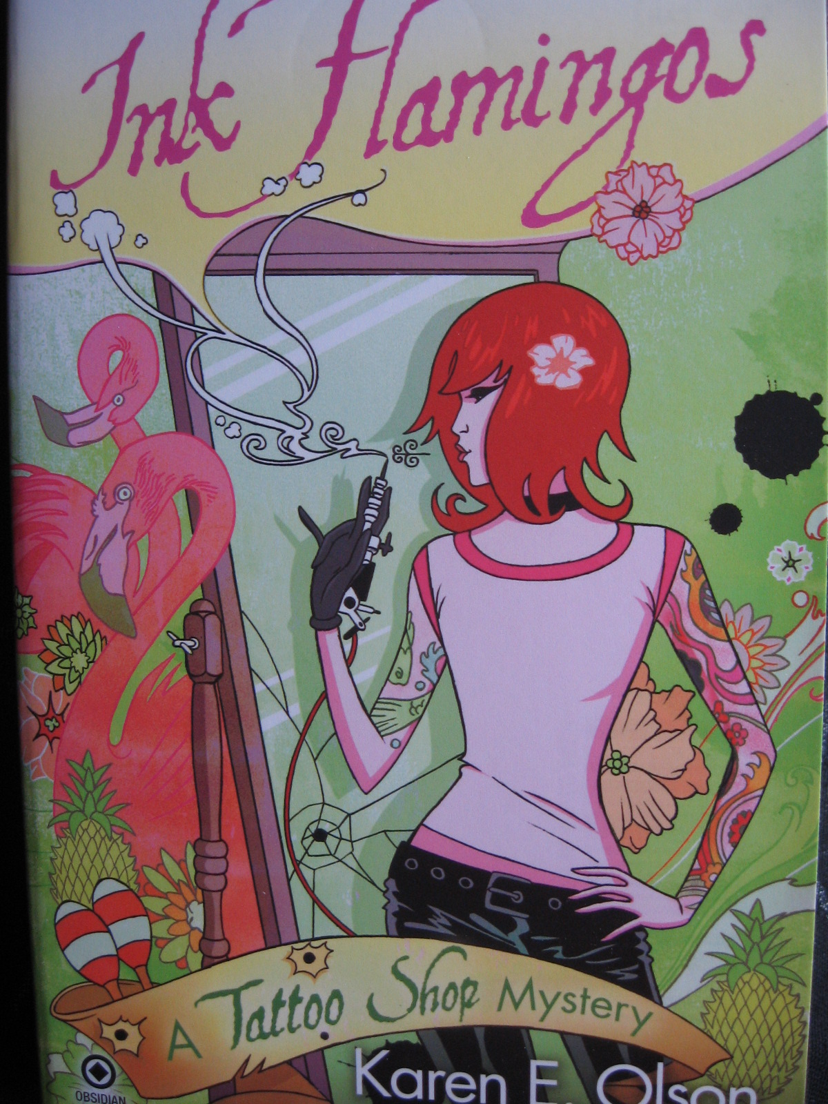 book review: ink flamingos  a tattoo shop mystery, part 4