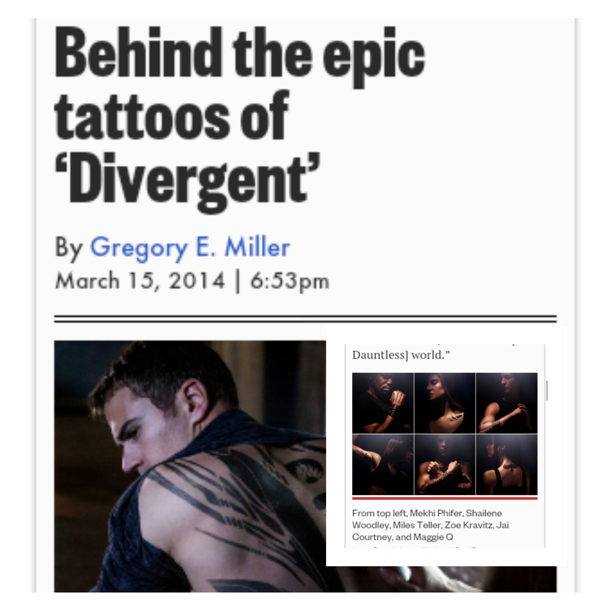 Dauntless Word Tattoo