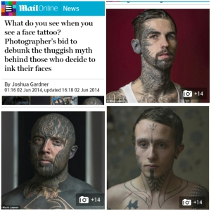 face tattoos - a photo project