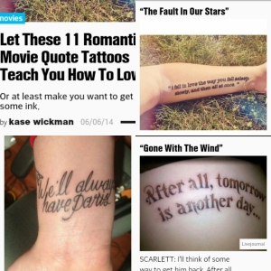 movie quotes tattoos