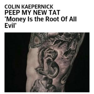 C.K. tattoo