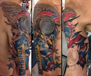 RW's running race tattoos