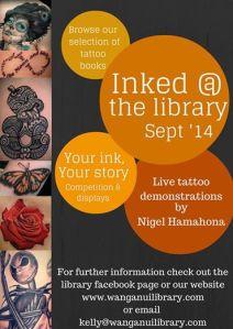 Wanganui Library tattoo event