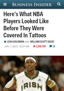 NBA tattoos