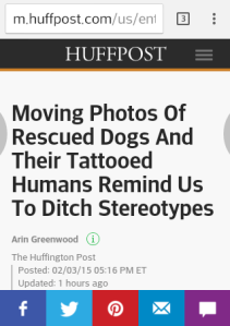 dogs and their tattooed humans project