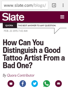 good and bad tattoo artists