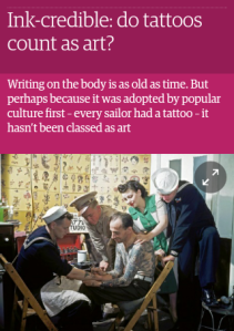 tattoos in the Guardian