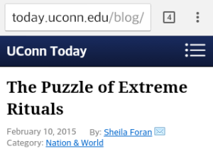 the puzzle of extreme rituals