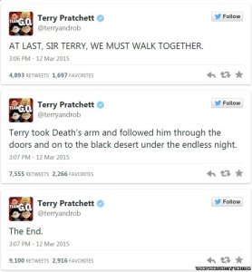 Terry Pratchett ...
