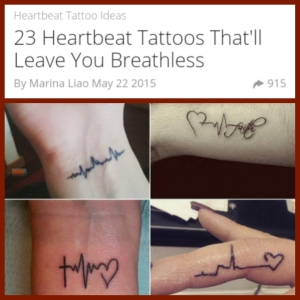 heartbeat tattoo pic