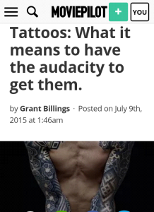 audacity and tattoos