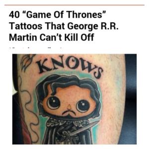 GoT tattoos