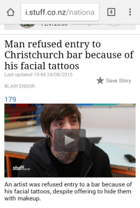 facial tattoos discrimination