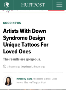artists with Down Syndrome and tattoos