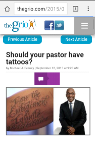pastor and tattoos