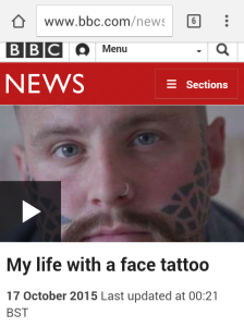 facial tattoos