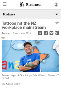 tattoos and dress code in NZ
