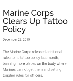 marine corps tattoo policy