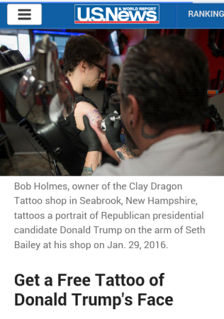 Trump tattoos