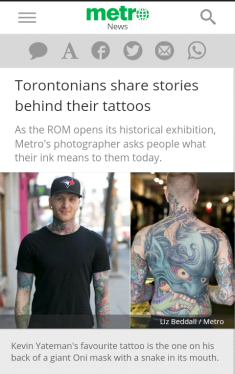 tattoos on Torontonians