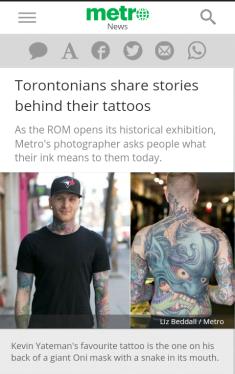 tattoos on Torontonians