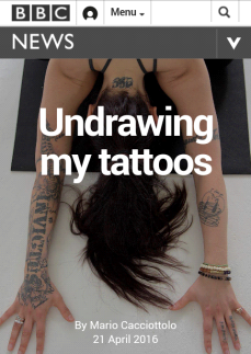 undrawing my tattoos
