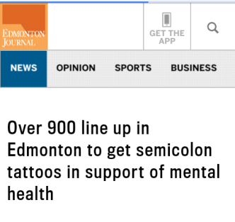 semicolon project in Edmonton