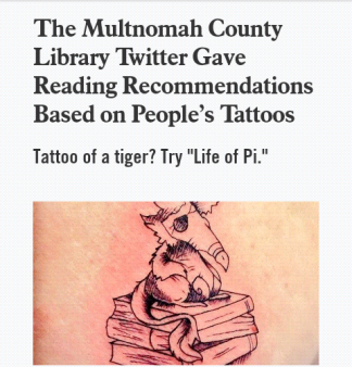 tattoos and books