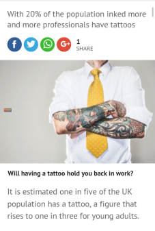 tattoos and work